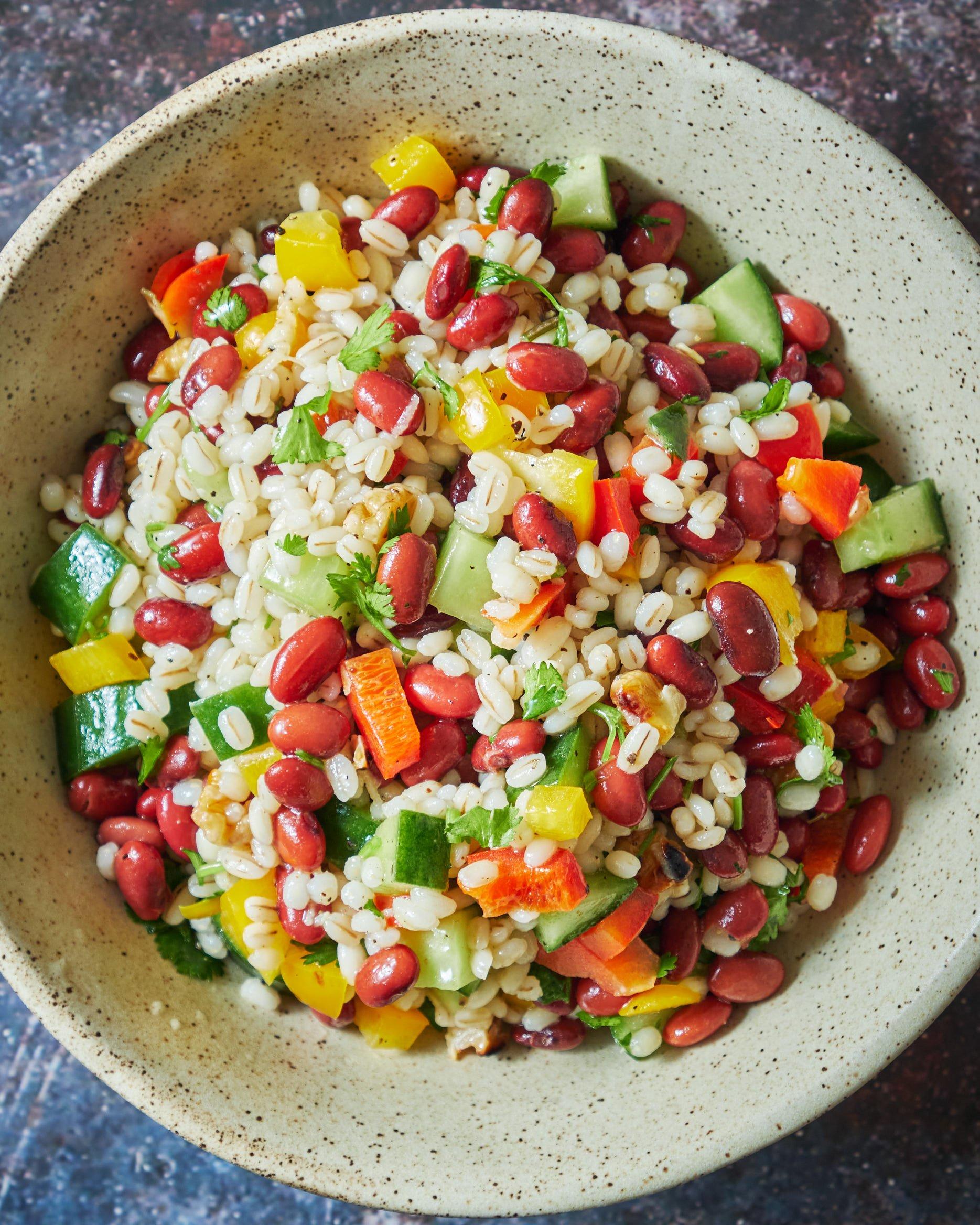 Pearl Barley Red Beans Salad